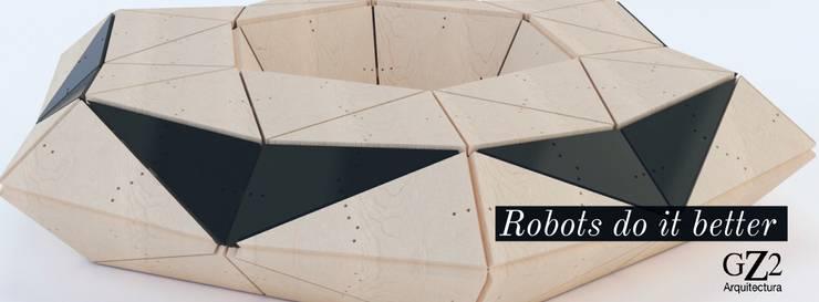 Robots do it better ! de GZ2 Arquitectura Moderno Madera Acabado en madera