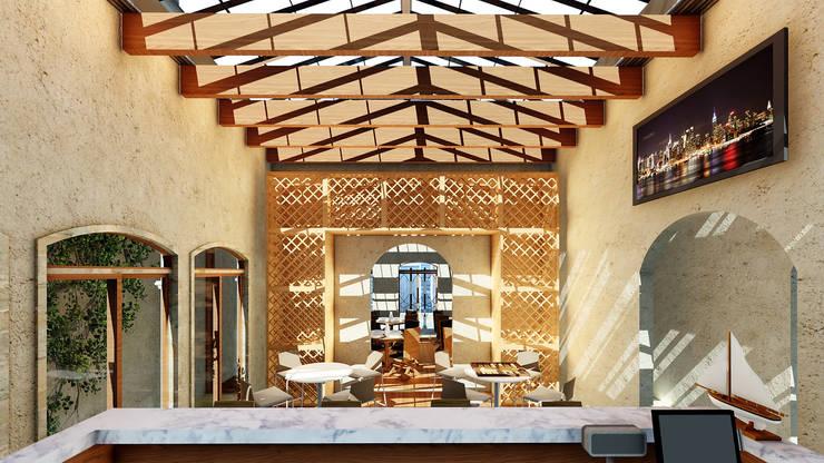 Restaurante el Mesón Regio / Bar & Cata de licores:  de estilo  por Grupo HAD