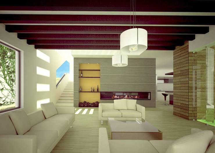 SALA DE ESTAR: Salas de estilo  por Arquitectura Libre