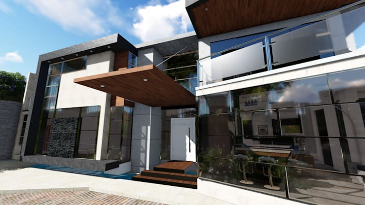 Quinta La Omareda. Urb El Hatillo Caracas 02:  de estilo  por Arquitectura Creativa