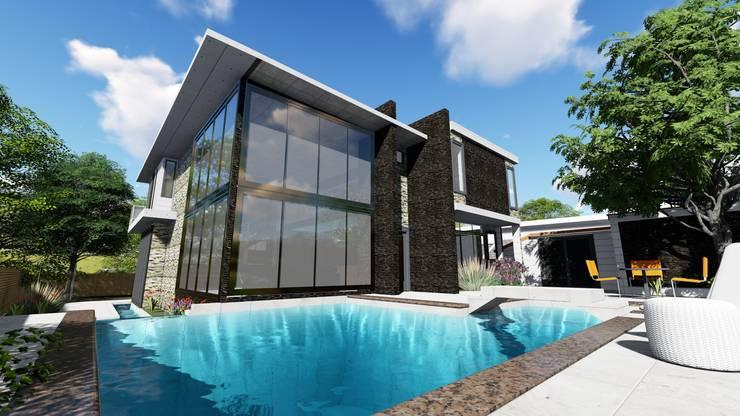 Quinta RZ La Victoria, Edo. Aragua:  de estilo  por Arquitectura Creativa