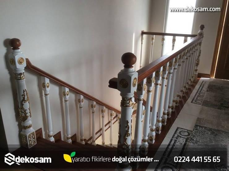 Dekosam – Rustik Merdiven:  tarz , Rustik Ahşap Ahşap rengi