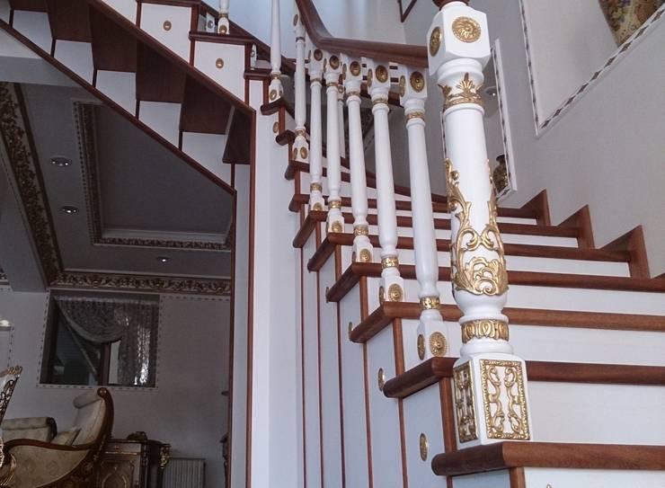 Dekosam – Ahşap Döner Merdiven:  tarz , Rustik Ahşap Ahşap rengi