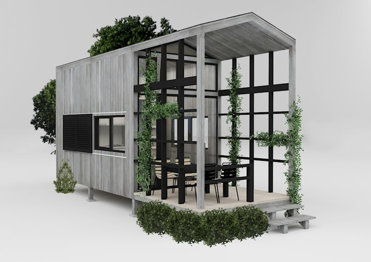 PRATIKIZ MIMARLIK/ ARCHITECTURE – Ağaç Ev:  tarz Evler, Kırsal/Country Ahşap Ahşap rengi