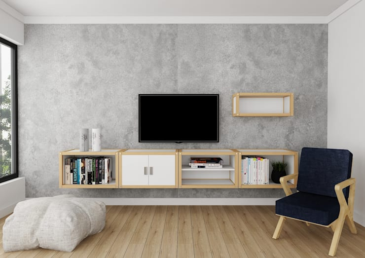 modern Living room by PRATIKIZ Mimarlık/ Architecture
