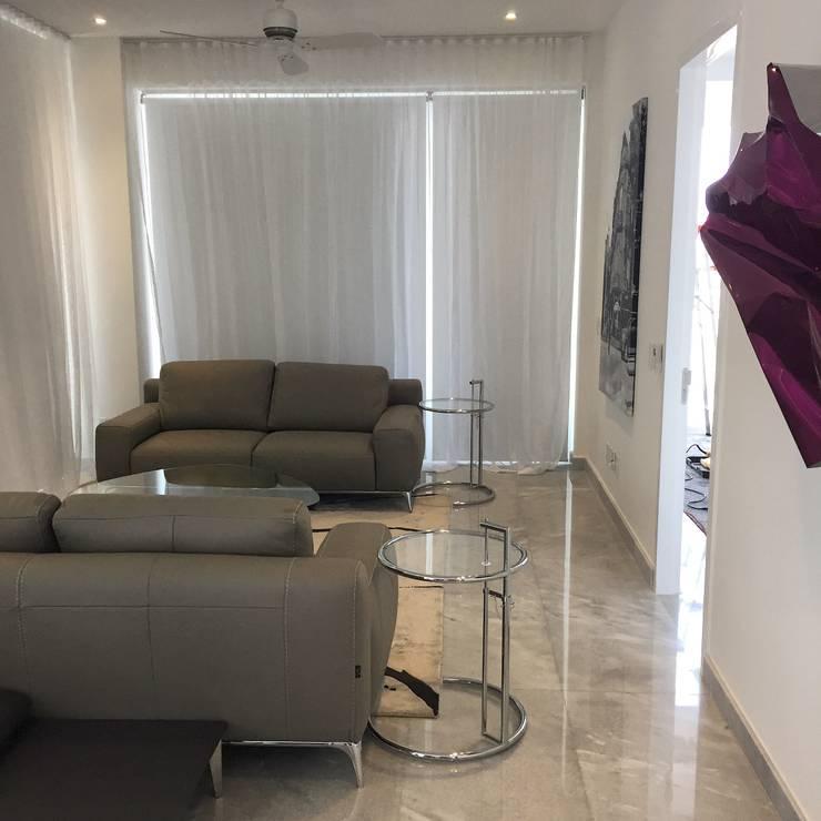PH D Terrace zona romantica: Salas de estilo  por DECO Designers
