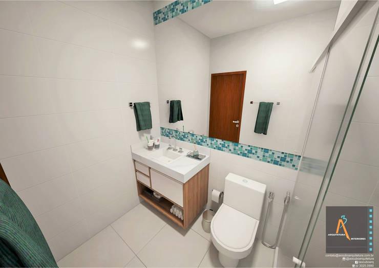 Bathroom by Ao Cubo Arquitetura e Interiores