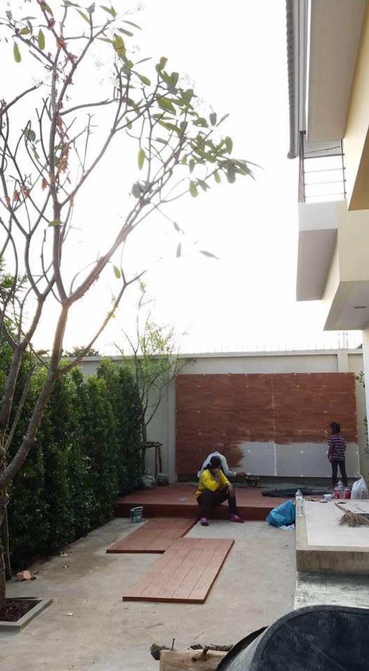 งานสวนบ้านคุณณัฏฐ์ ทิวไผ่งาม:   by 168 Noble Architecture
