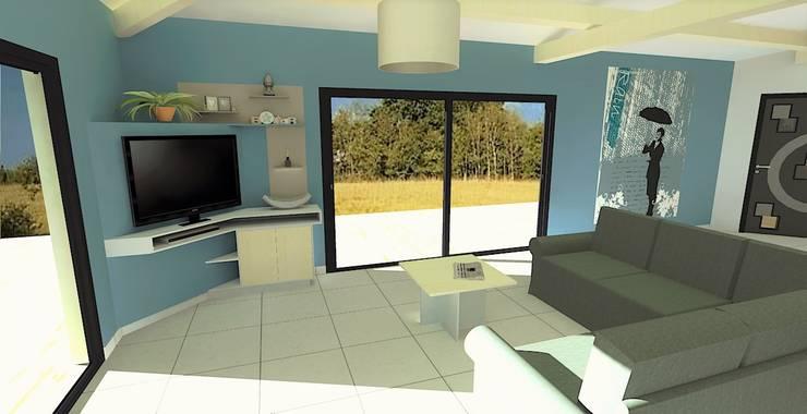 غرفة المعيشة تنفيذ Atelier Créa' Design
