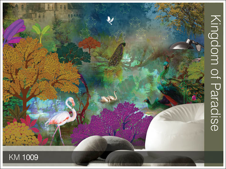Krsna mehta designer wallcoverings :   by Wall Art Private Limited