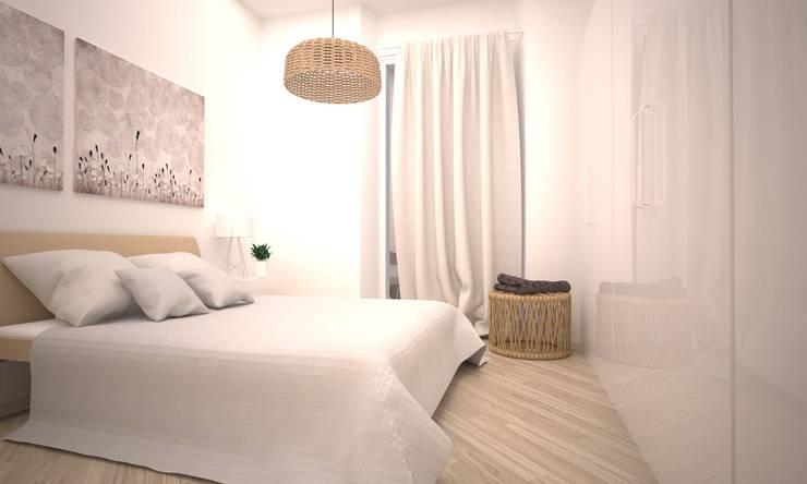 VIA CEVA: Camera da letto in stile  di LAB16 architettura&design