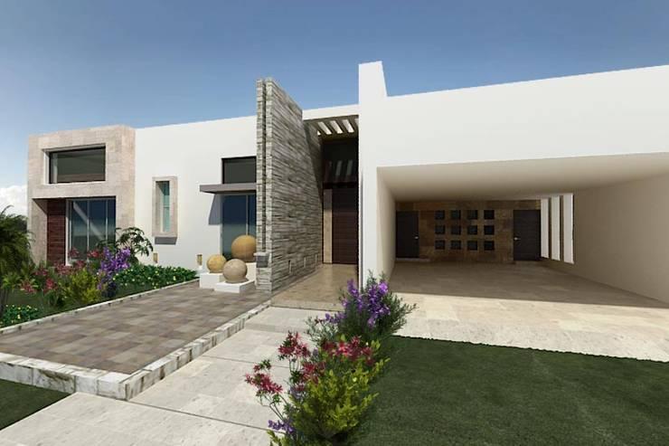 Residencia El Molino Club de Golf: Casas de estilo  por HF Arquitectura