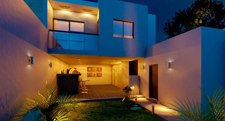 DEPARTAMENTO EC: Casas de estilo  por EKA ARQUITECTURA