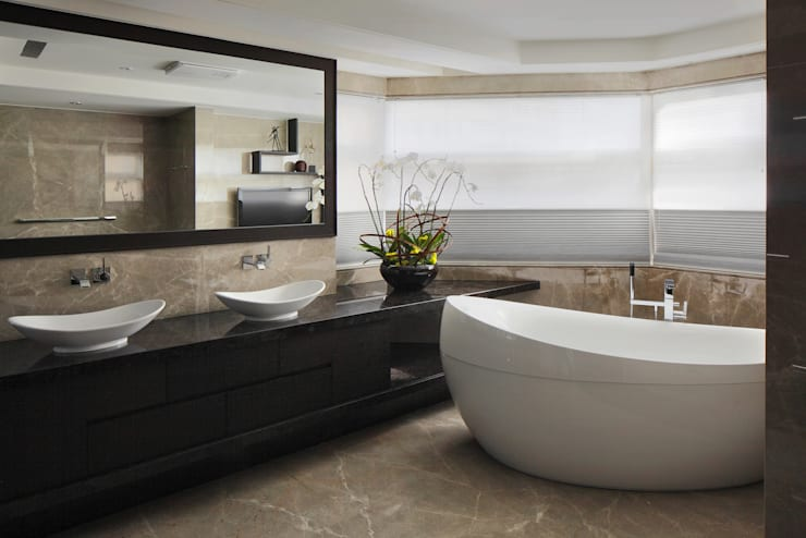 modern Bathroom by 大荷室內裝修設計工程有限公司