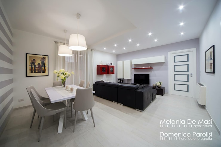 Dining room by melania de masi architetto