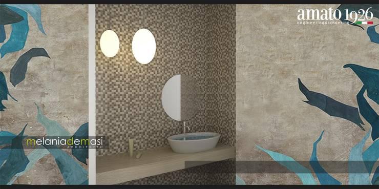 Casas de banho  por melania de masi architetto,