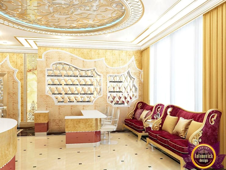 Luxurious beauty salon interior of Katrina Antonovich :  Clinics by Luxury Antonovich Design, Eclectic