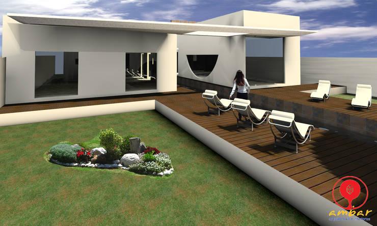 CASA DE LOS PATIOS: Jardines de estilo  por SG Huerta Arquitecto Cancun