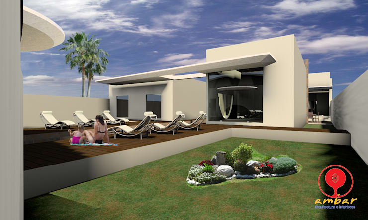 CASA DE LOS PATIOS : Jardines de estilo  por SG Huerta Arquitecto Cancun