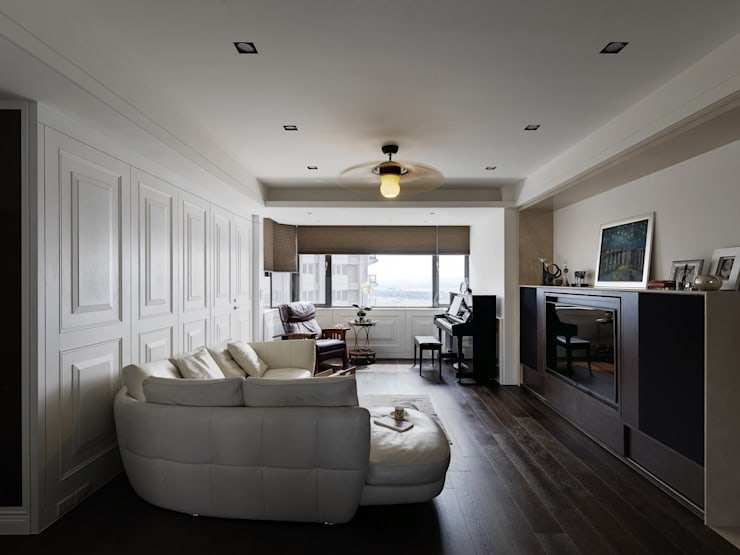 Livings de estilo  por 大荷室內裝修設計工程有限公司 , Clásico