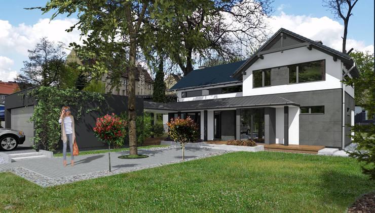 Dom jednorodzinny House_&_SPACE: styl , w kategorii Domy zaprojektowany przez ABC Pracownia Projektowa Bożena Nosiła