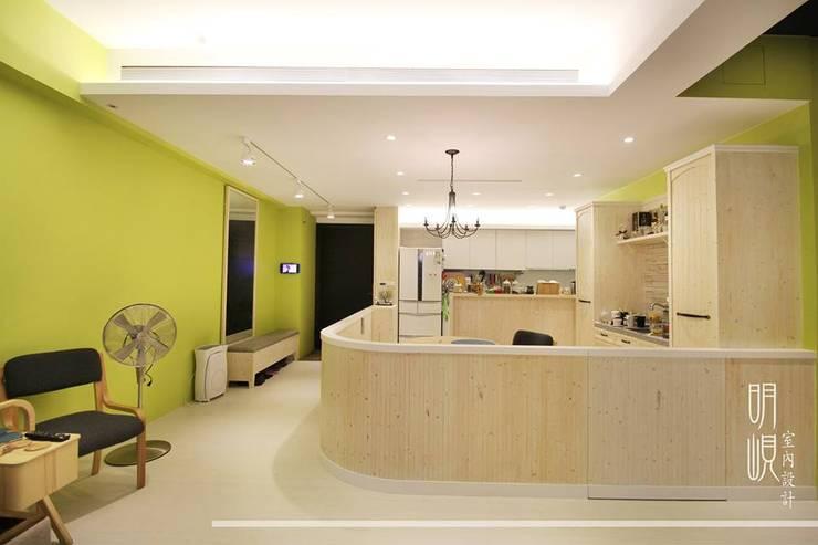 新竹 鄉村簡約:  餐廳 by 明峴室內設計