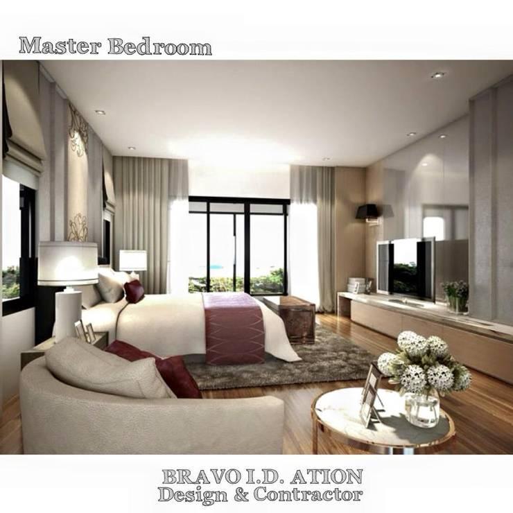 งานออกแบบตกแต่งภายในบ้านเศรษฐศิริ ราชพฤกษ์-จรัญฯ:   by BRAVO I.D. Design & Contractor