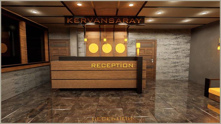 anılbora3D & İÇ MİMARLIK – kervansaray hotel ( RİZE AYDER YAYALASI ):  tarz , Rustik Ahşap-Plastik Kompozit
