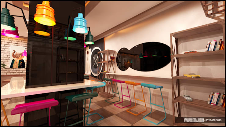 anılbora3D & İÇ MİMARLIK – yalova uzmanlar hastanesi  ( CAFE ):  tarz , Rustik Ahşap-Plastik Kompozit