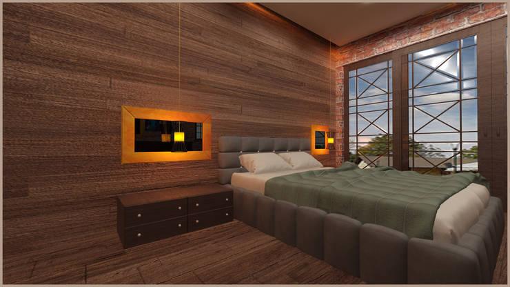 anılbora3D & İÇ MİMARLIK – hotel rom ( rize ayder yaylası ):  tarz , Rustik Masif Ahşap Rengarenk
