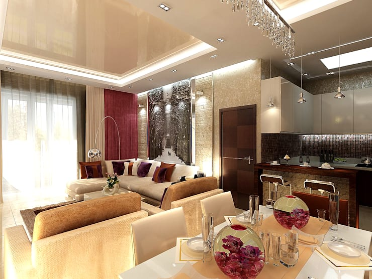 Living room by Студия интерьера Дениса Серова