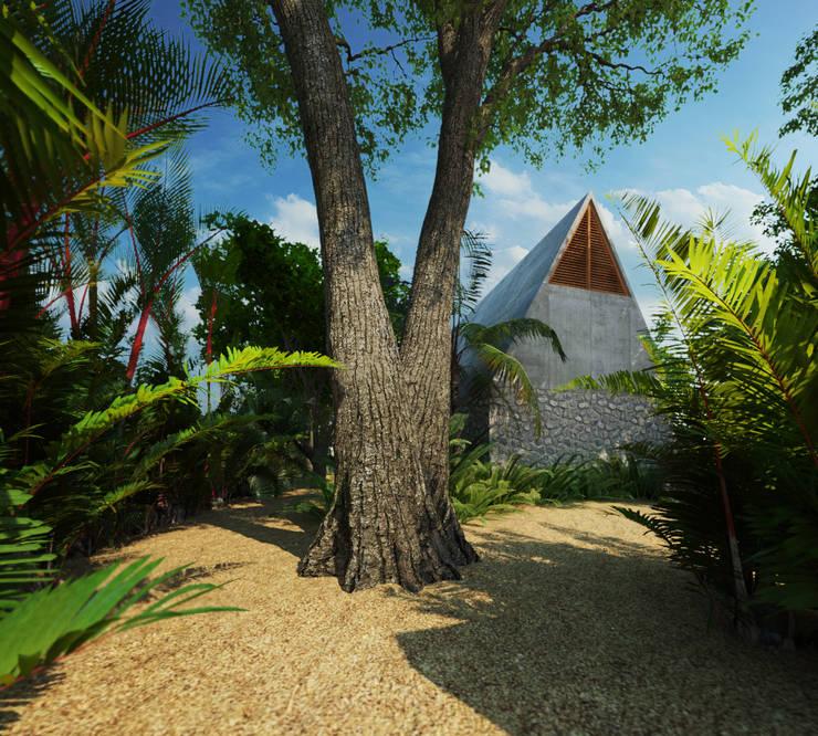 Casa Cham: Jardines de estilo  por La Desarrolladora