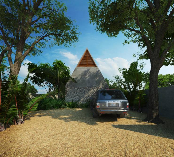 Casa Cham: Casas de estilo  por La Desarrolladora