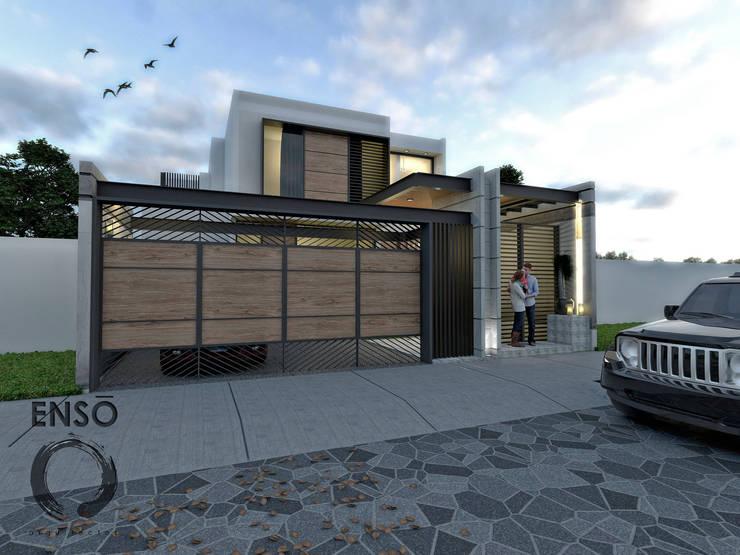 CASA HABITACIÓN - ASTORIA: Casas de estilo  por Enso Arquitectos