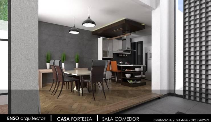CASA FORTEZZA: Cocinas de estilo  por Enso Arquitectos
