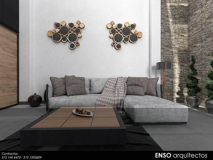 CASA FORTEZZA: Salas de estilo  por Enso Arquitectos