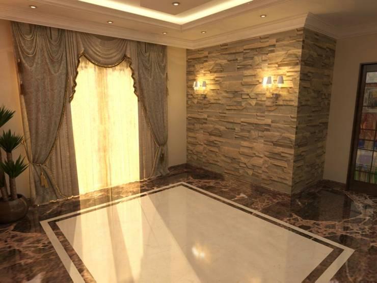 تشطيب شقة :  غرفة المعيشة تنفيذ الرواد العرب,
