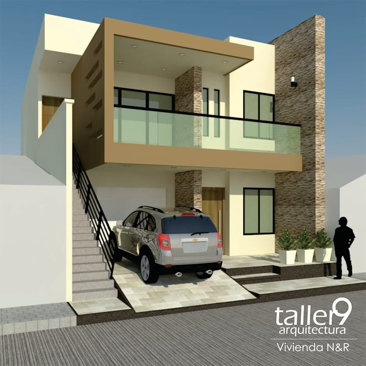 VIVIENDA <q>N&R</q>: Casas de estilo  por TALLER 9, ARQUITECTURA