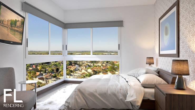 INTERIORES: Dormitorios de estilo  por FL Rendering,