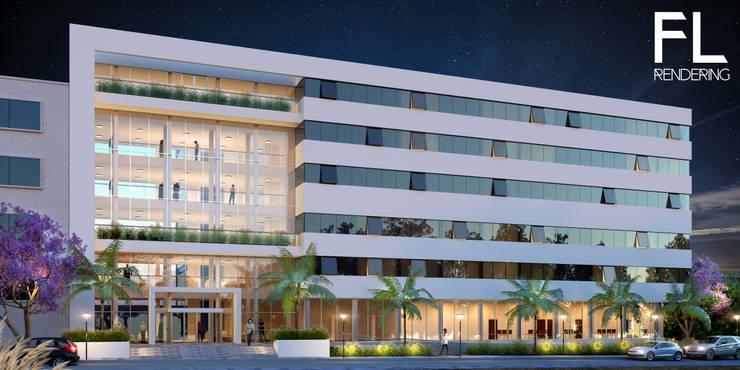 EXTERIORES: Casas de estilo  por FL Rendering
