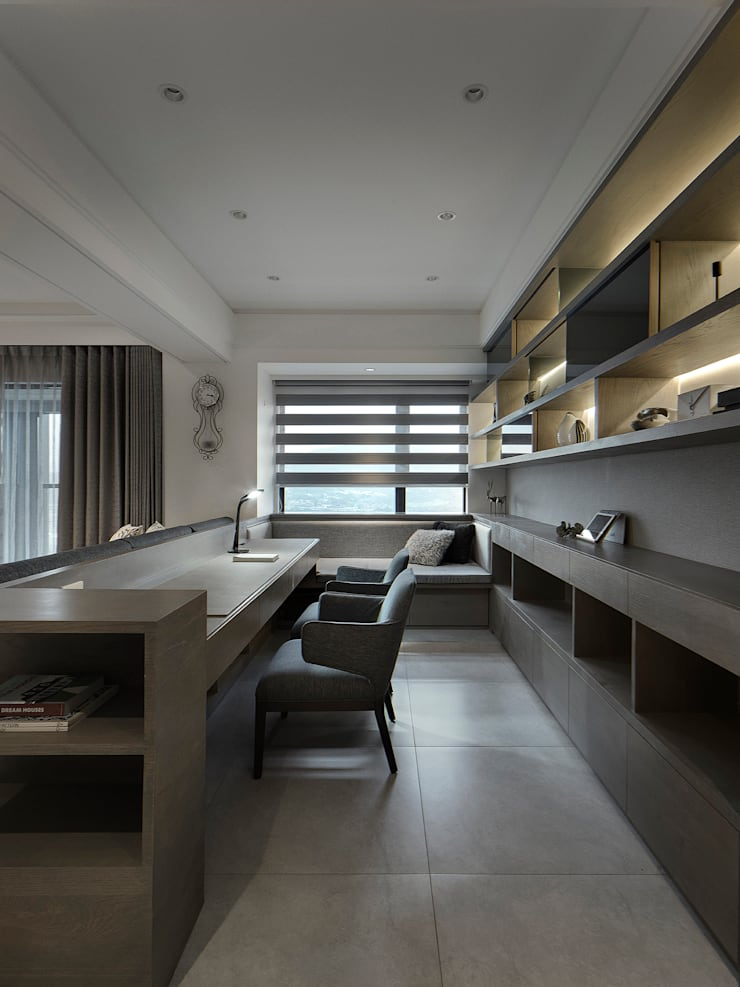 Bureau de style  par 大荷室內裝修設計工程有限公司, Moderne