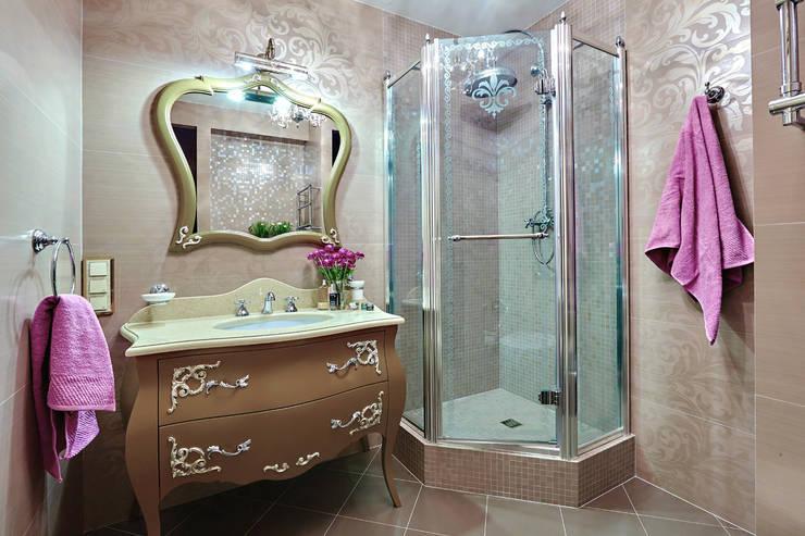 Сливки общества в ЖК Золотые ключи: Ванные комнаты в . Автор – Дизайн бюро Оксаны Моссур