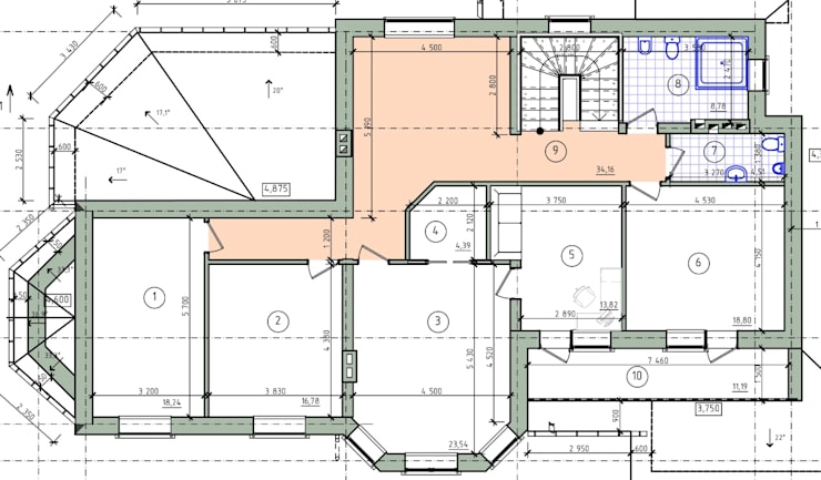 план помещений 2-го этажа:  в . Автор – СК 'РЕЗИДЕНЦИЯ'