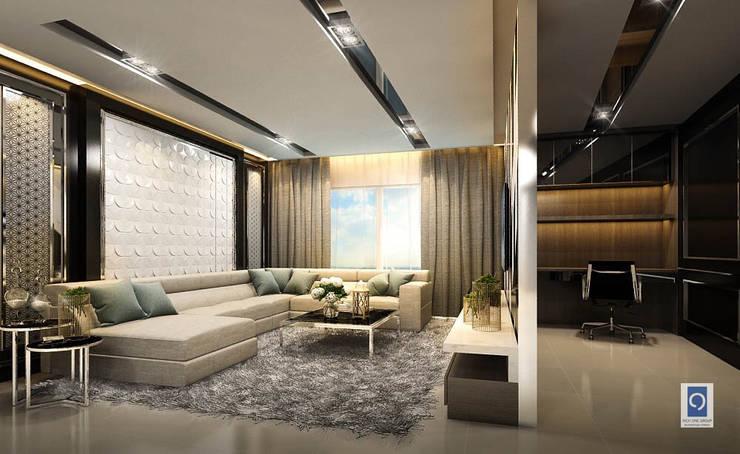 15 มุมห้องนั่งเล่นแนว Luxery Modern งานออกแบบห้องรับแขกเพื่อทุกคนในครอบครัว:   by ริชวัน กรุ๊ป