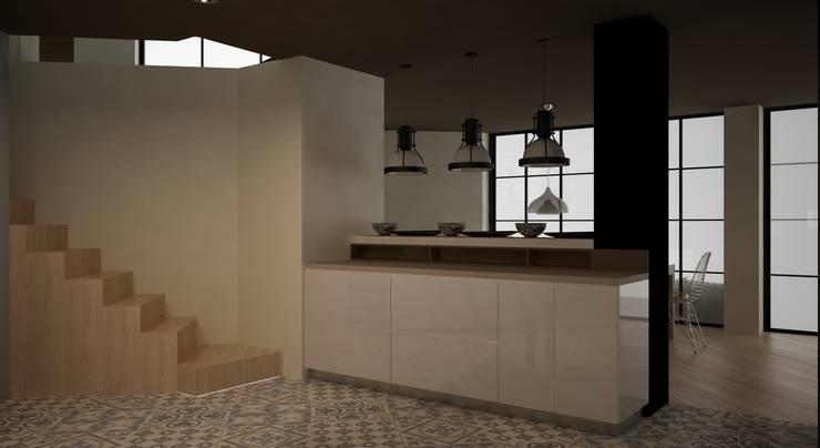 CASA DEL TREBOL: Cocinas de estilo  por santiago dussan architecture & Interior design