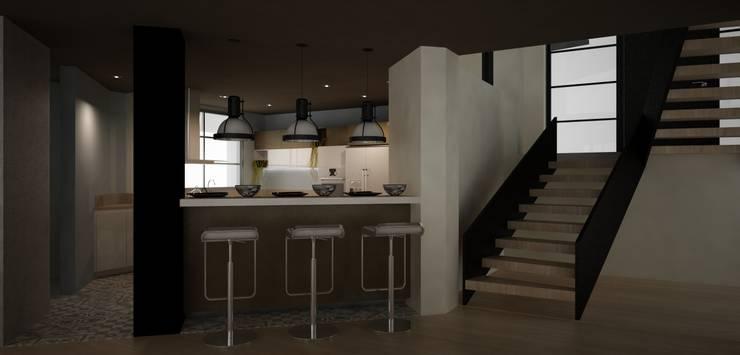 CASA DEL TREBOL: Comedores de estilo  por santiago dussan architecture & Interior design