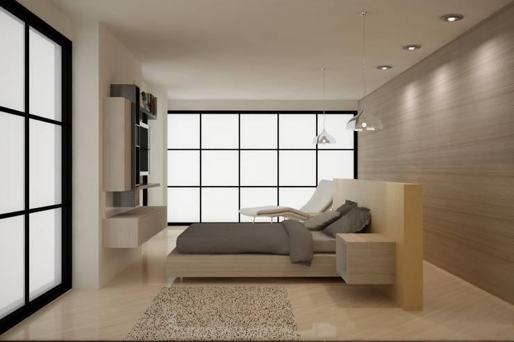 CASA DEL TREBOL: Habitaciones de estilo  por santiago dussan architecture & Interior design