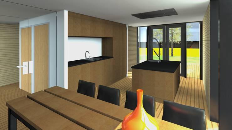 Villa 1 keuken:  Huizen door De E-novatiewinkel