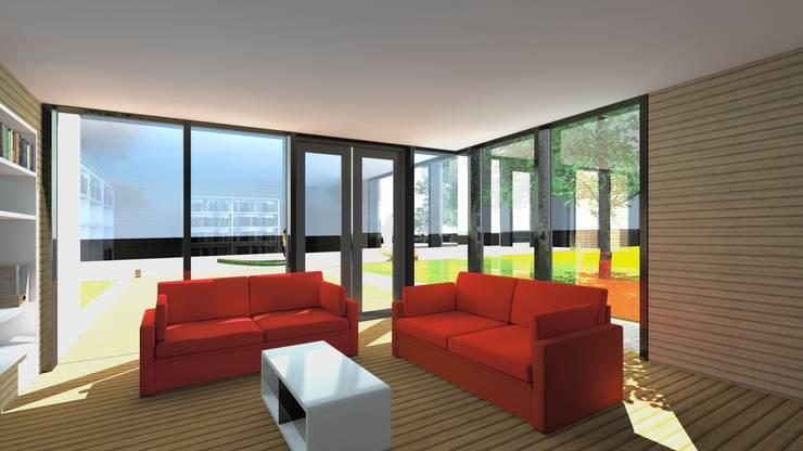 Villa 1  woonkamer:  Huizen door De E-novatiewinkel