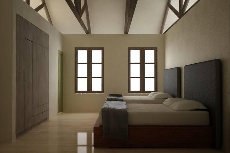 CASA VILLA DE LEYVA: Habitaciones de estilo ecléctico por santiago dussan architecture & Interior design